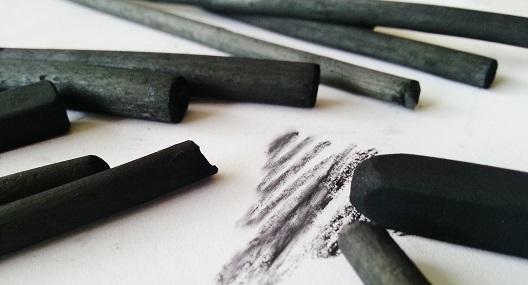 Portrait mit Kohle gezeichnet